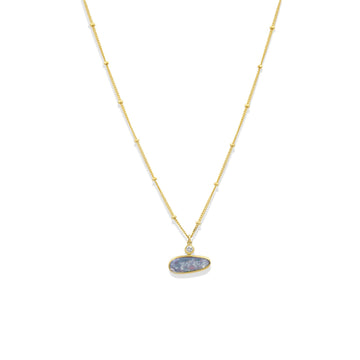 Camille Jewelry - Opal and cz pendant with gold filled chain