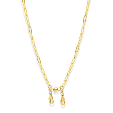 Camille Jewelry - Gold Paperclip Convertible Chain Necklace For Face Masks