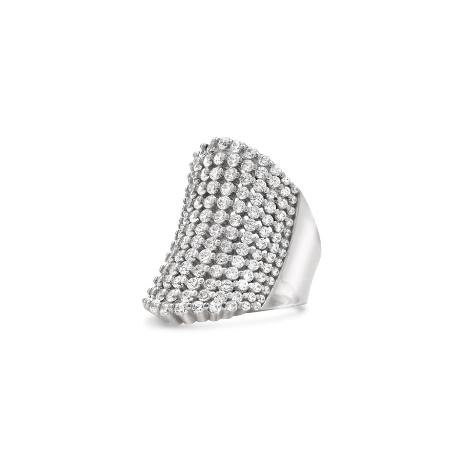 A classic pave cocktail in sterling silver that never goes out of style! Shop Camille Jewelry.