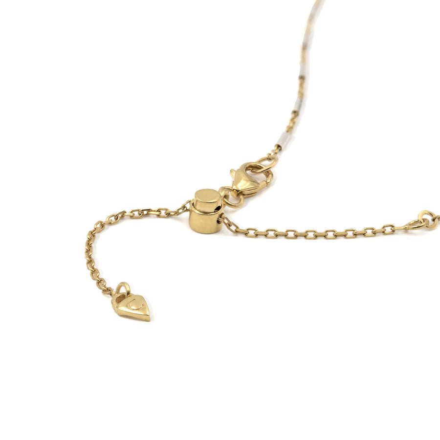 Necklace chain slider to adjust to desired lenght at Camille Jewelry.