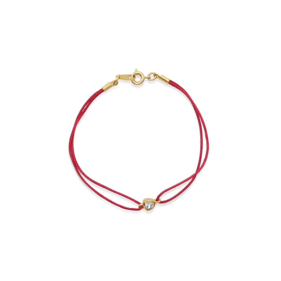 Red color corded nylon bracelets with trillion stone | Shop Thyra Collectin | Camille Jewelry