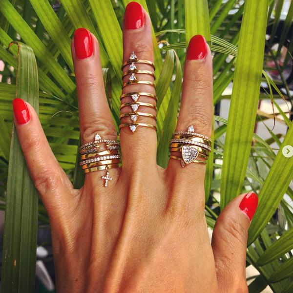 Camille Jewelry - Statement gold rings. Layered and stack. Free shipping USA