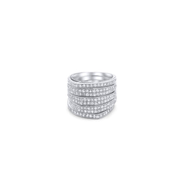 Camille Jewelry- sterling silver layered pave ring