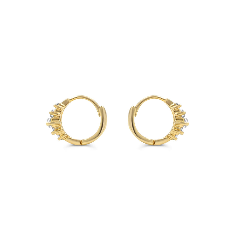 Camille Jewelry- Shop 14k baguette hinged hoop earrings. Made in USA