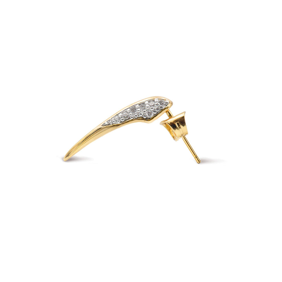 Pave Gold Beak Stud Earrings | Fashion and Fine Jewelry | Camille Jewelry