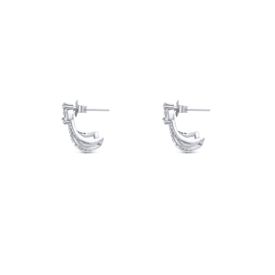 Camille Jewelry - wrap sterling silver post earrings.