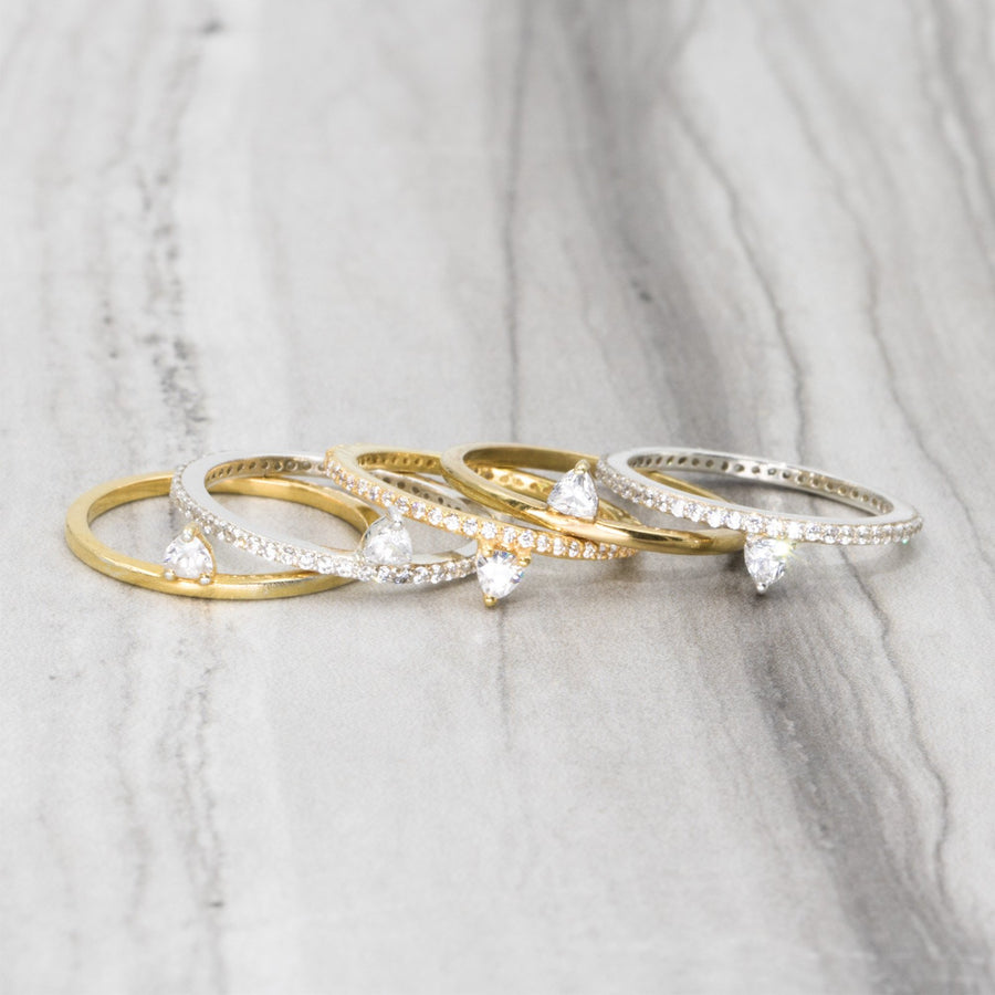Shop skinny and feminine vermail gold rings from Camille Jewelry