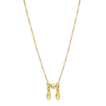 Convertible gold station chain necklace  for face masks | Camille Jewelry