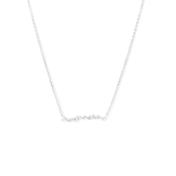 Camille Jewelry - Alternating baguette sterling silver necklace