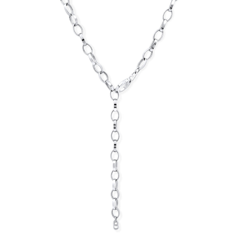 Camille Jewelry - Perfect combination of texture and smooth surface on our link chain necklace.
