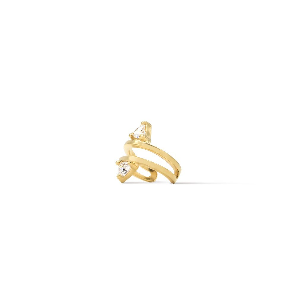 Camille Jewelry- Theia collection, 18K gold vermeil trillion ear cuff. Free shipping USA