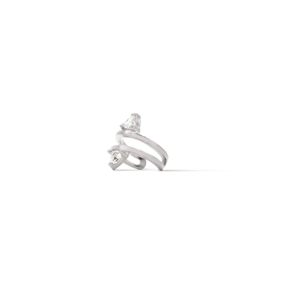 Camille Jewelry- Theia collection, rhodium plated sterling silver trillion ear cuff. Free shipping USA