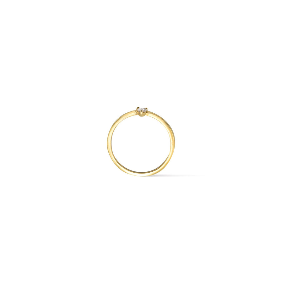 Camille Jewelry- Theia collection, 18 karat gold vermeil trillion skinny ring. Free shipping USA