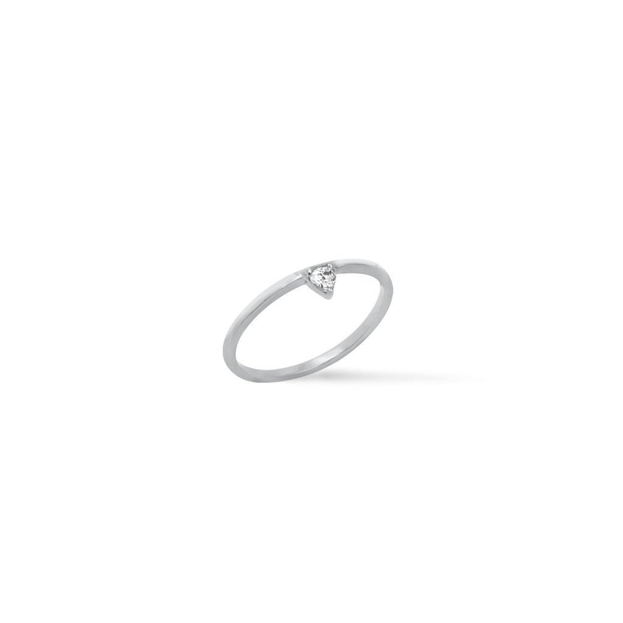 .925 sterling silver trillion band ring | Camille Jewelry