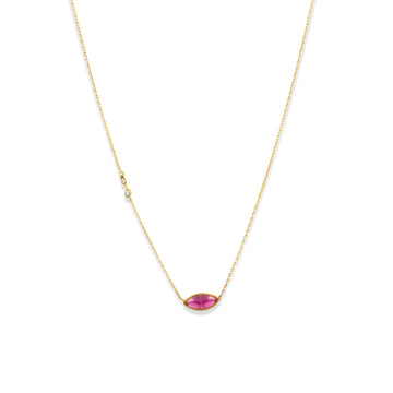 Maquise Watermelon Tourmaline Necklace