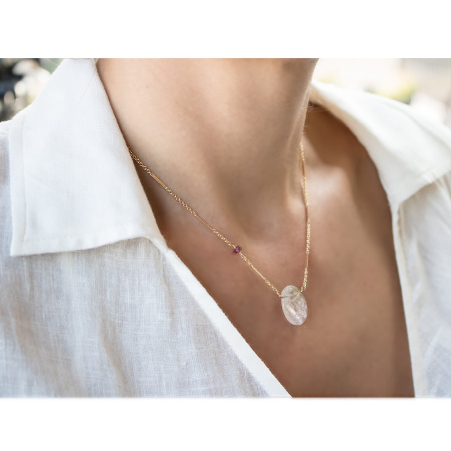 Shop genuine tourmaline necklace | 14K gold filled chain | Camille Jewelry