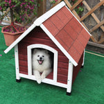 Petsfit Wood Dog House Red