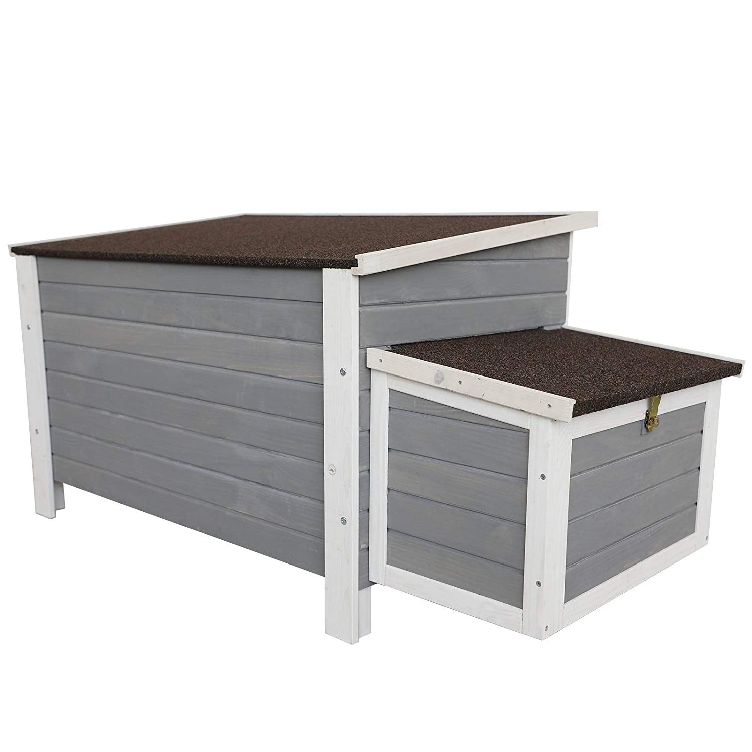 Petsfit Weatherproof Outdoor Chicken Coop with Nesting Box, Bottom Can be Removed for Easy Cleaning