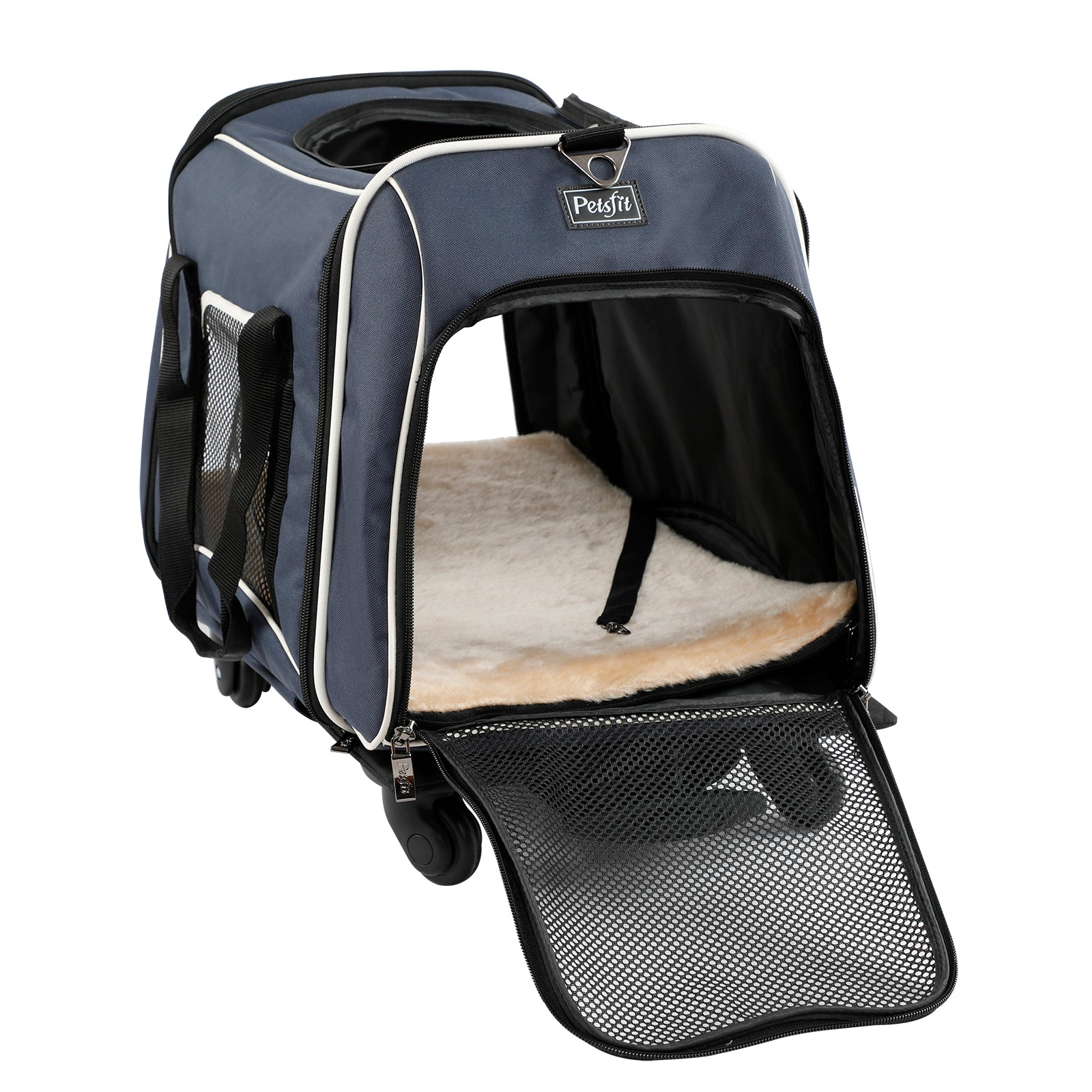 Petsfit Pet Carrier with Removeable Wheels