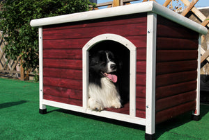 Petsfit Wooden Dog House Red