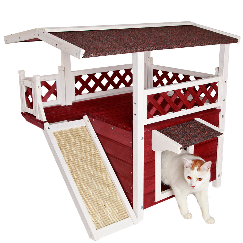 Petsfit Wooden Cat House Gary