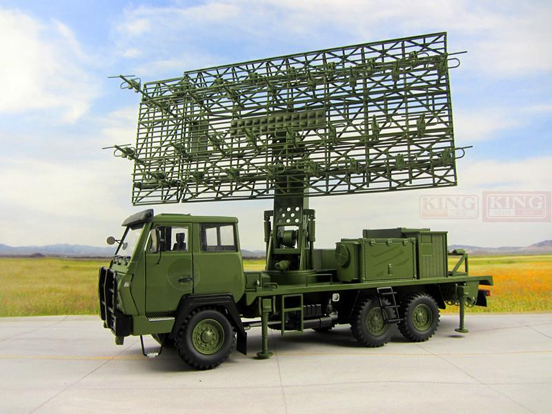 KNL Hobby Diecast Truck 04E military radar truck alloy army green military radar air defence radar vehicle model 1:30