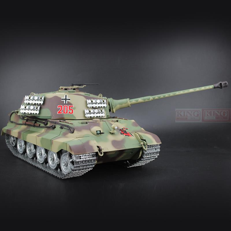 1/16 scale HengLong 2.4GHz R/C Battle Tank Henschel Turret German King Tiger Ultimate metal version Smoke Sound Metal Gear and Tracks