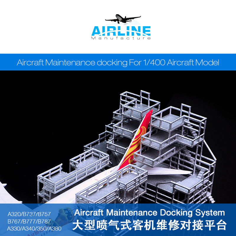 KNL Hobby diecast model 1: 400 Airport Facilities Airport Model Ground Maintenance Service Maintenance Ladder Aircraft maintenance docking
