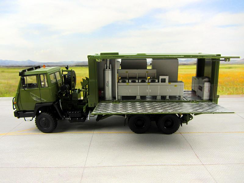 KNL Hobby Diecast Truck 1:43 scale Steyr Cooking Container truck for Chinese army Military Shan Xi Automobile PLA heavy Cooking truck