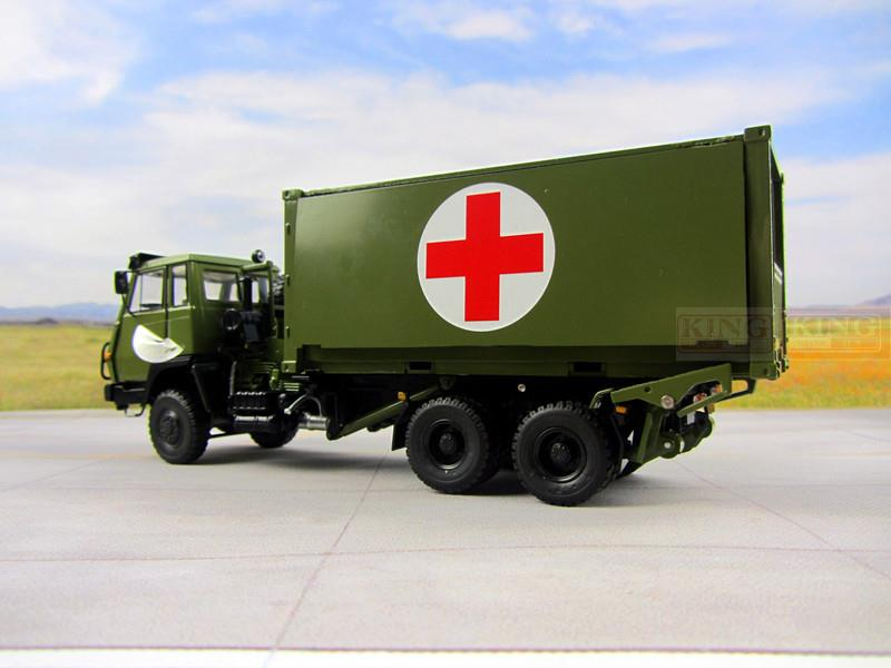 KNL Hobby Diecast Truck 1:43 scale Steyr Truck Medical Truck for Chinese army Military Shan Xi Automobile red cross truck PLA heavy Container truck