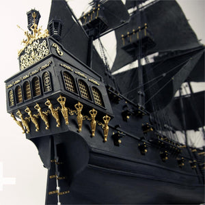 KNL Hobby 2015 Black Pearl sailing ship 1/35 in Pirates of the Caribbean wood model building kit
