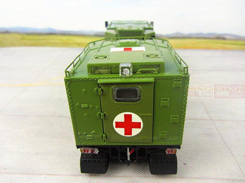 KNL Hobby Diecast Truck Chinese Army All-terrain tracked medical vehicles modular series alloy PLA 1:32