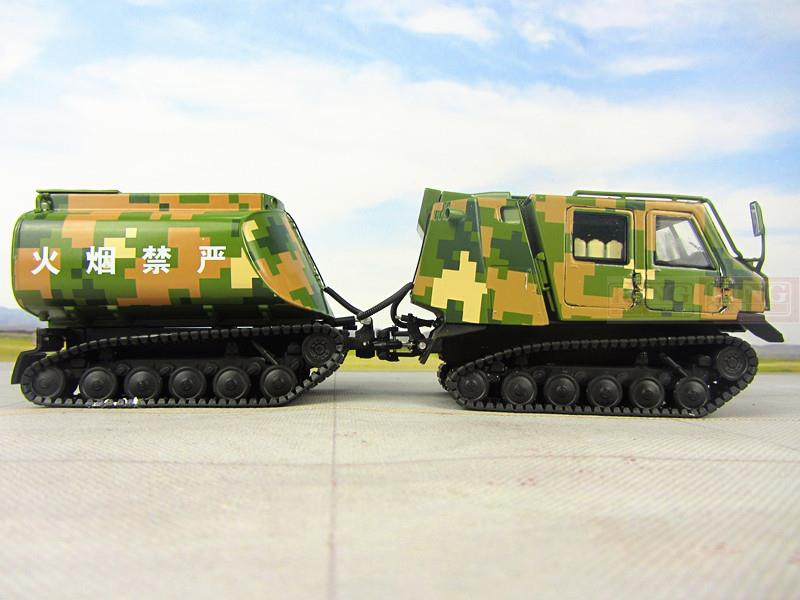 KNL Hobby Diecast Truck Chinese Army All-terrain tracked oil tanker vehicles equipment modular combination series alloy PLA 1:32