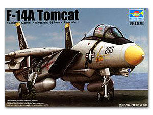 Trumpeter 1/144 scale model 03910 US Navy F-14A Tomcat Carrier Fighter
