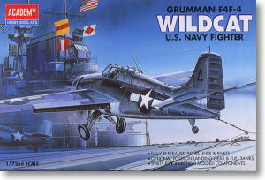 "ACADEMY 1650/12451 Grumman F4F-4 ""Wildcat"" carrier-based fighter"