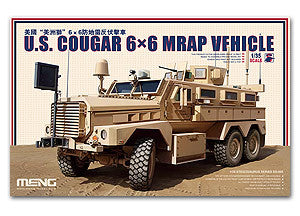 "MENG SS-005 U.S. ""Cougar"" 6x6 MRAP (MRAP) armored vehicles 1/35 scale model"