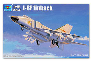 Trumpeter 1/48 scale model 02847 China Air Force J-8F (J-8F) long whale fighter