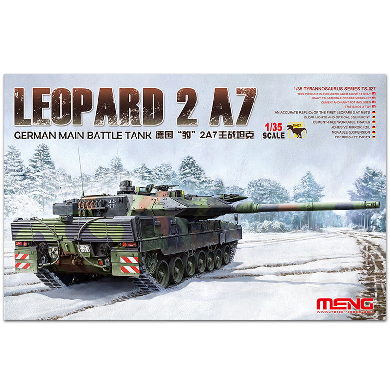 MENG TS027 1/35 German Leopard 2A7 main battle tank assembly model spot