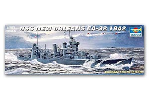 "Trumpeter 1/700 scale model 05742 US Navy CA-32 ""New Orleans"" heavy cruiser 1942"