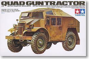 "TAMIYA 1/35 scale models 35045 World War II British ""Quart"" artillery tractor"