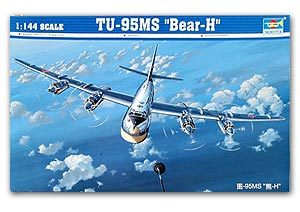 "Trumpeter 1/144 scale model 03904 Tu-95MS ""bear-h"" bomber"