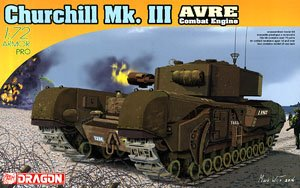 1/35 scale model Dragon 7327 British Churchill Mk.III AVRE Engineers type chariot