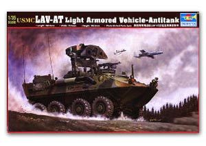 Trumpeter 1/35 scale model 00372 US Marine Corps LAV-AT 8X8 Wheeled Missile Launch Vehicle