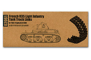 Trumpeter 1/35 scale model 02061 French R35 light combat vehicle with movable link track