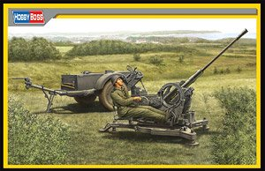 Hobby Boss 1/35 scale tank models 80148 World War II Germany 2cm Flak38 traction anti-aircraft guns and Sd.Ah 51