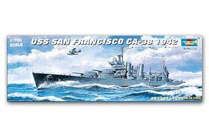 Trumpeter 1/700 scale model 05746 New Orleans Class CA-38 San Francisco Heavy Cruiser 1942