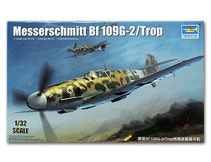 Trumpeter 1/32 scale model 02295 Messers Mitter Bf109G-2 Fighter Tropical *