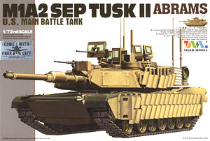 Tiger Model 1/72 scale 9601 M1A2 SEP TUSK II & ldquo; Abrams & rdquo;
