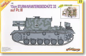 1/35 scale model Dragon 9123 3 assault chariot 15cm heavy infantry gun and the sixth army infantry