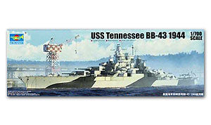 "Trumpeter 1/700 scale model 05782 US Colorado BB-43 ""Tennessee"" Battleship 1944"